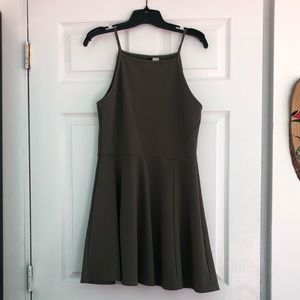H&M Olive Tank Top Dress with Cool Texture